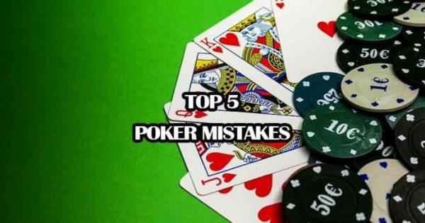 online poker mistakes
